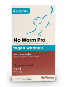 Emax No Worm Pro Hond Large 4 Tabletten