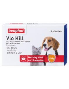 Beaphar Vlo Kill Kat En Hond Tot 11 KG 6 Tabletten