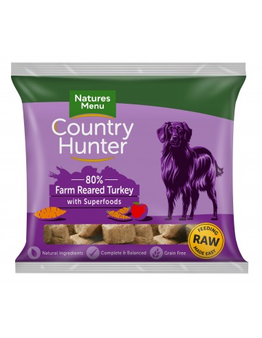 Natures Menu Frozen Country Hunter Kalkoen 1KG