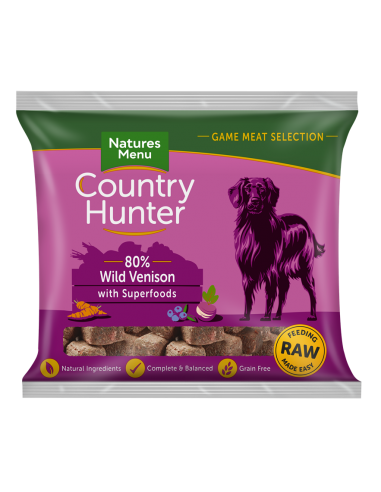 Natures Menu Frozen Country Dog Wild Venison 1KG