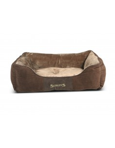 Scruffs Chester Box Bed Chocolate Small 50 X 40 CM