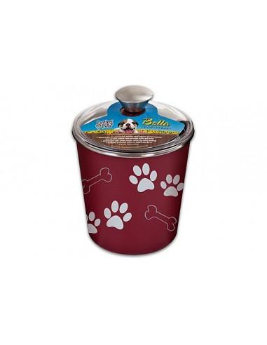 Loving Pets Bella Bowl Canister Merlot 1,9L