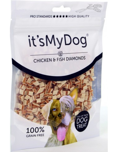 It's My Dog Chicken & Fish Diamonds 85 Gram