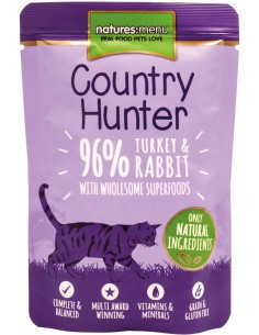 Natures Menu Kat Country Hunter Pouch Turkey & Rabbit 85 Gram