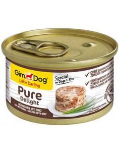 Gimdog Pure Delight Kip Met Rund 85 Gram